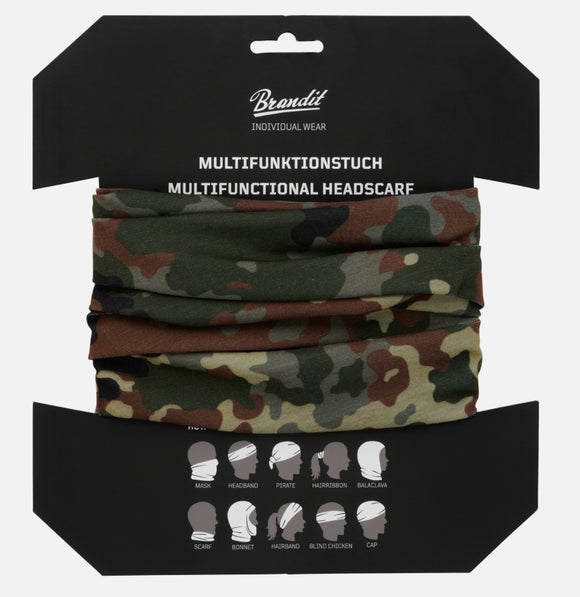 Multifunctional Headscarf (10 Colors) Flecktarn Accessories Brandit