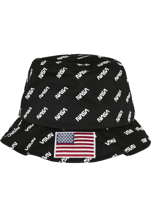 Nasa Allover Bucket Hat Black / One Size Accessories Nasa (mt De)