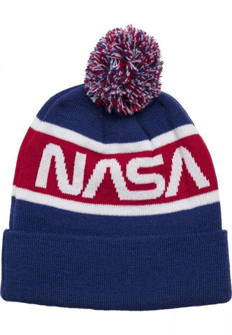 Nasa Beanie Knitted Blue Headwear Nasa (mt De)