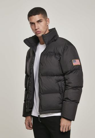 Nasa Black Puffer Jacket S / Black Nasa Mister Tee