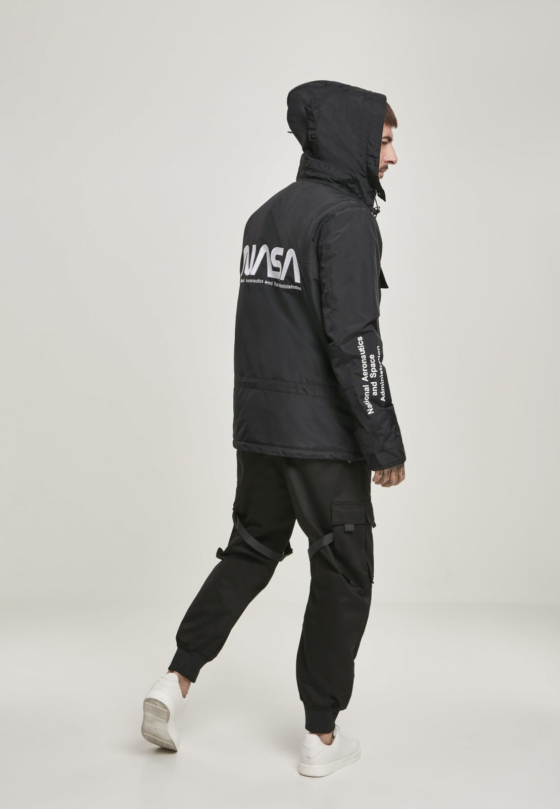Nasa Black Windbreaker Nasa Mister Tee