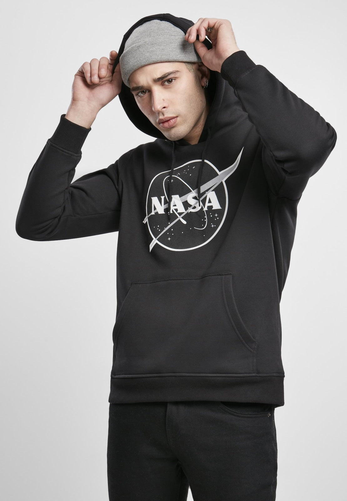 Nasa Dark Logo Insignia Black Hoodie Nasa Nasa (mt De)