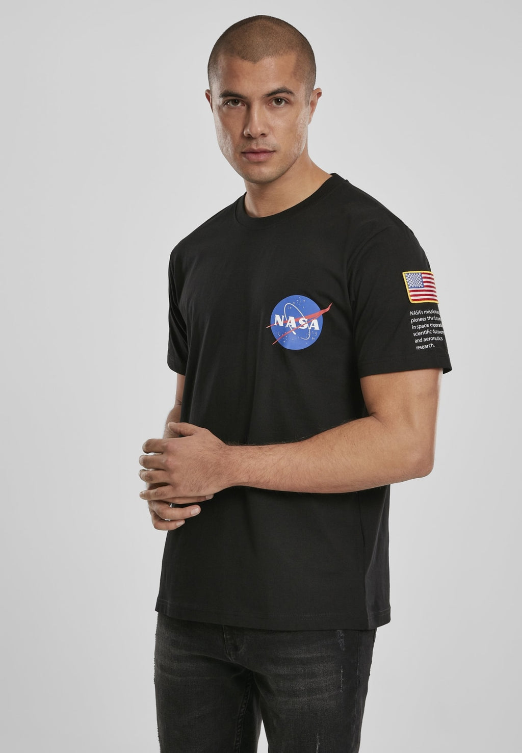 Nasa Insignia Logo Flag Tee Nasa Nasa (mt De)