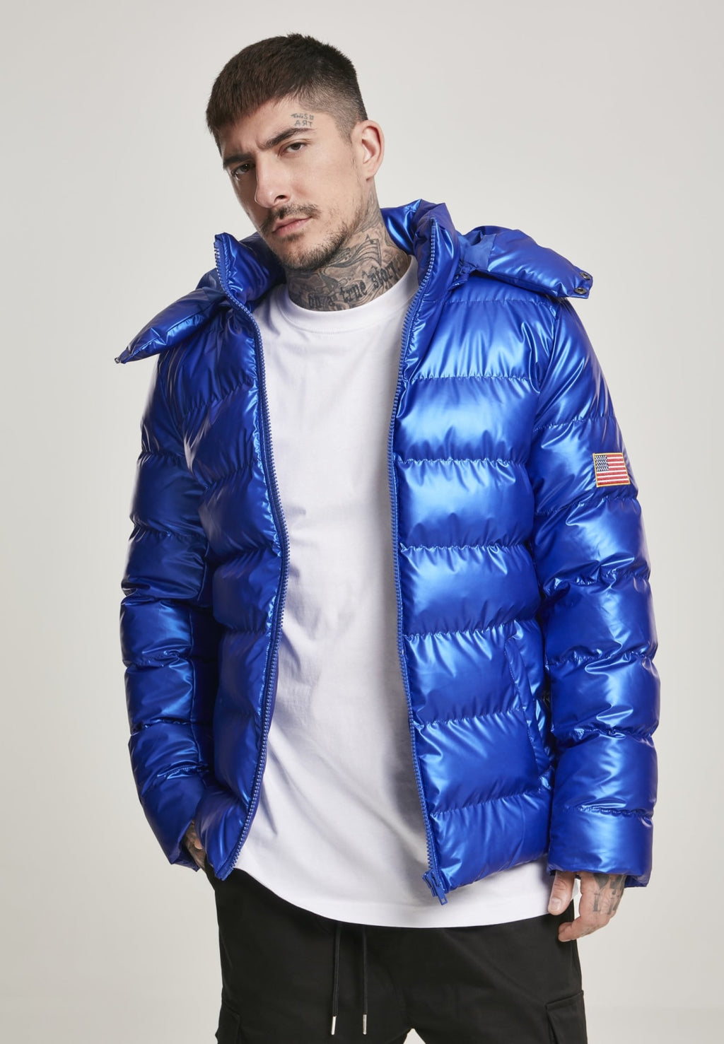 Nasa Insignia Metallic Puffer Jacket S / Blue Nasa Mister Tee