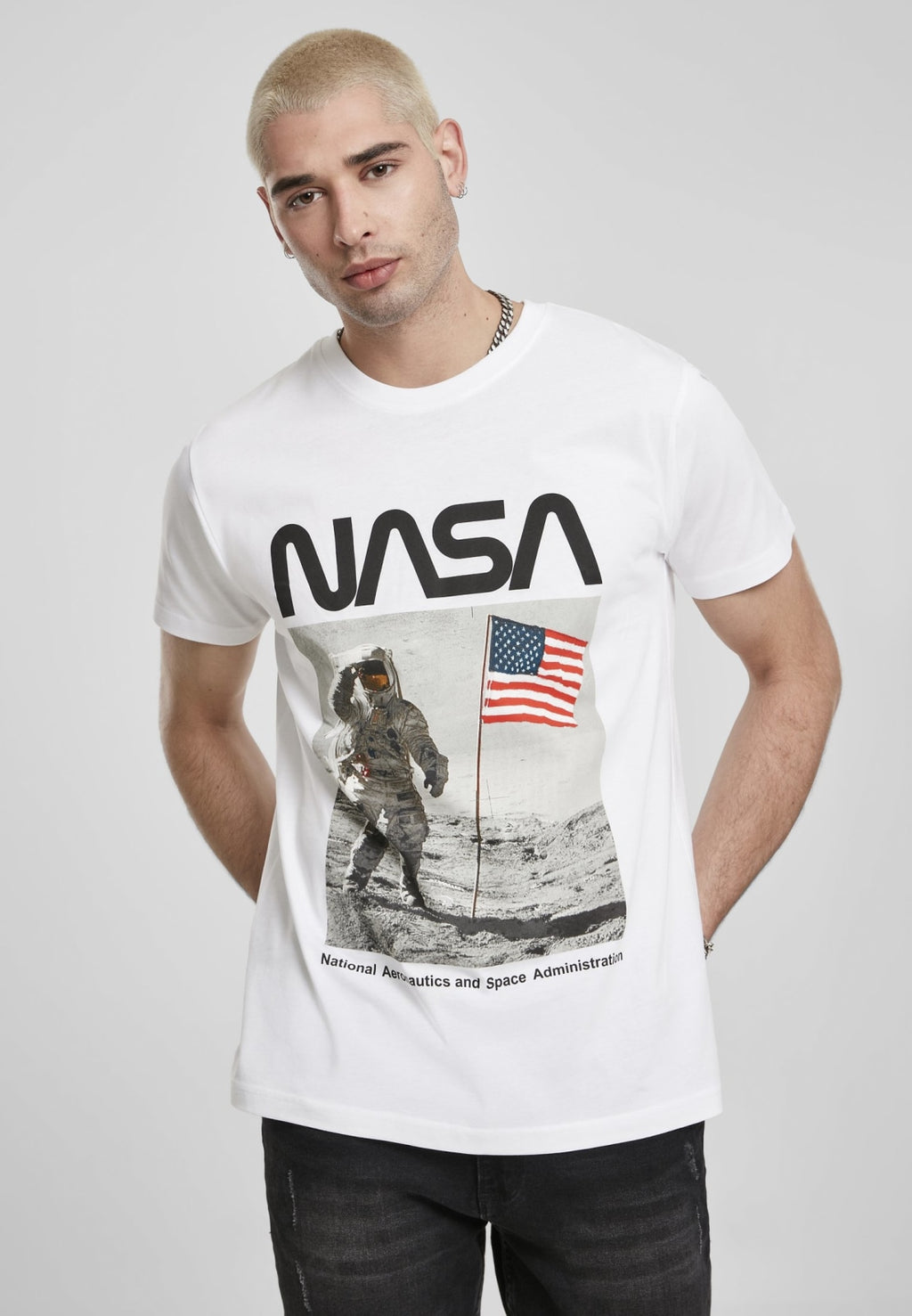Nasa Moon Man Tee T-shirt Nasa (mt De)
