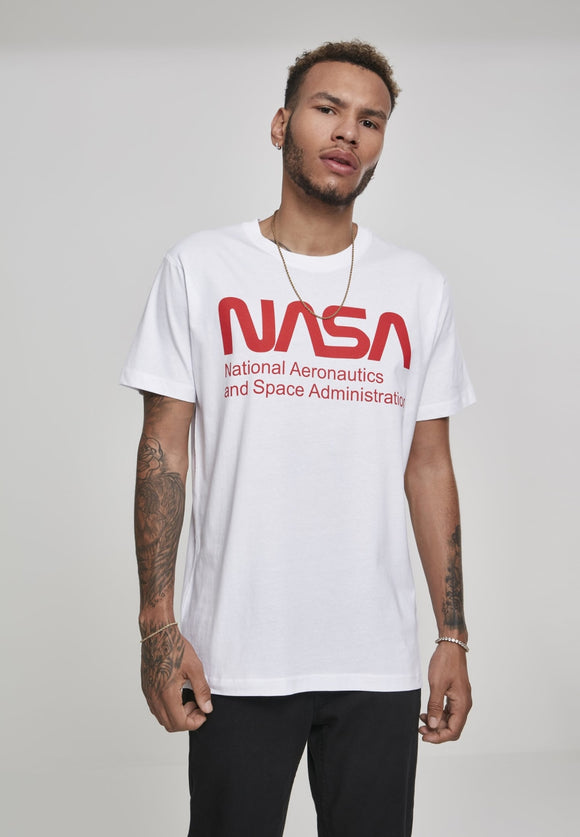 Nasa Wormlogo Tee - White Nasa Nasa (mt De)