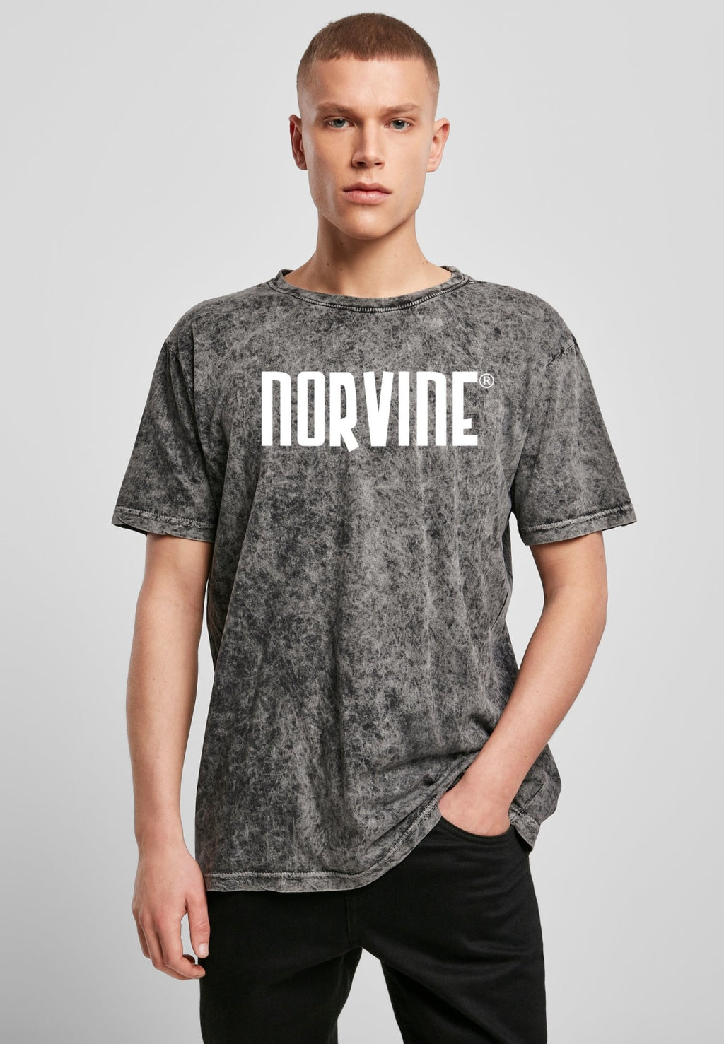 Norvine Logo Acid Washed Tee Dark Grey / s T-shirt Norvine