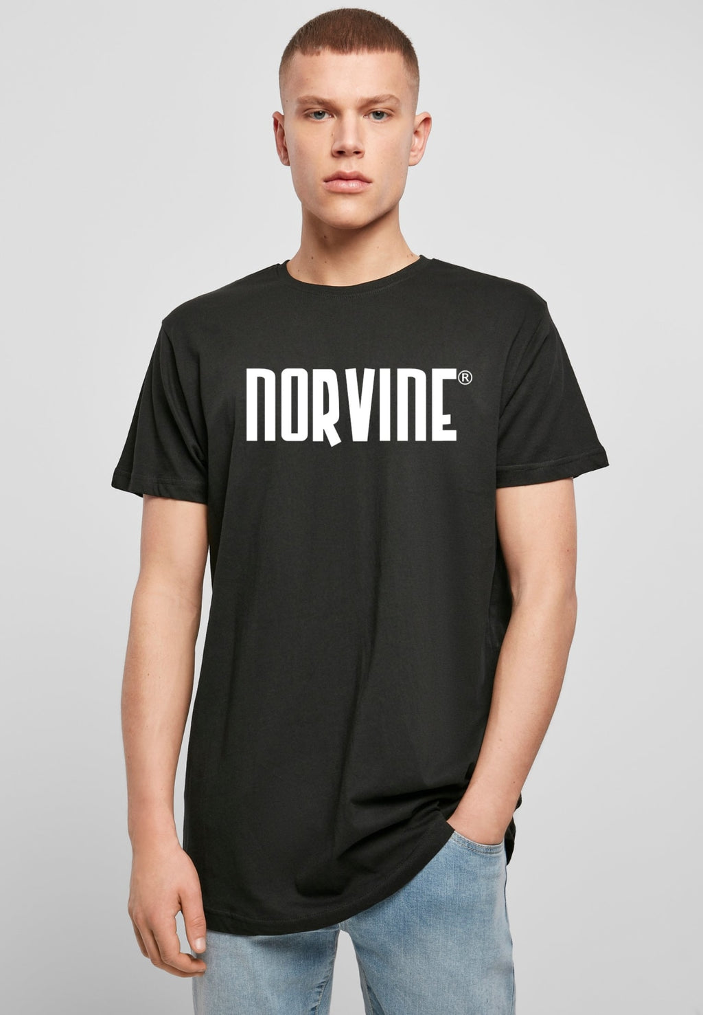 Norvine Logo Shaped Long Tee T-shirt Norvine