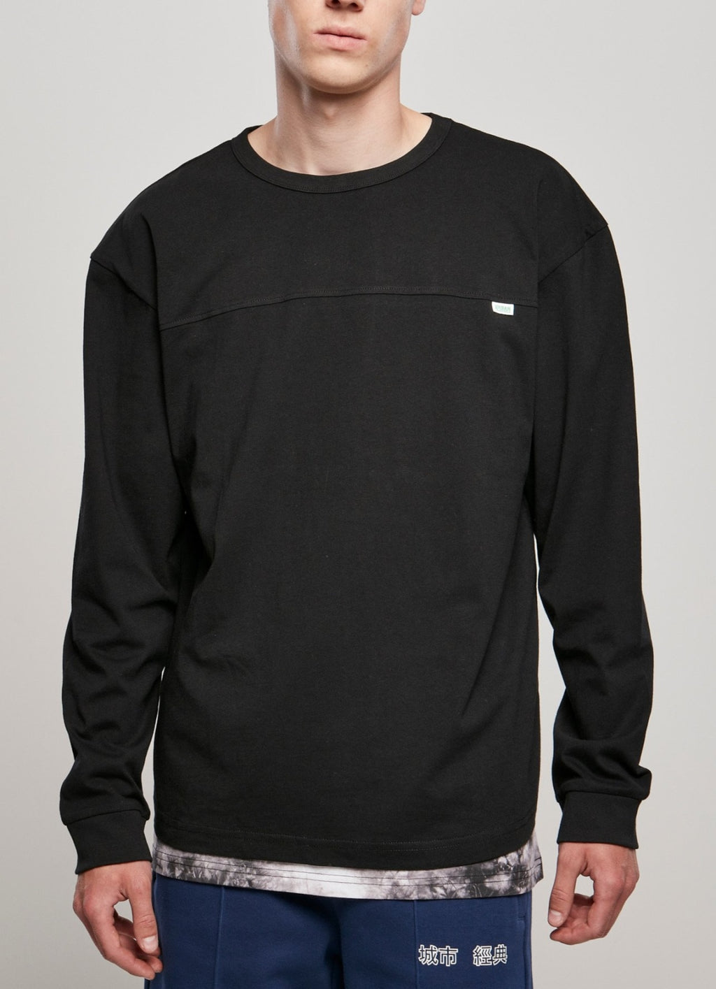 Organic Cotton Short Curved Oversized Longsleeve (sizes S-5xl) Black / s T-shirt Urban Classics