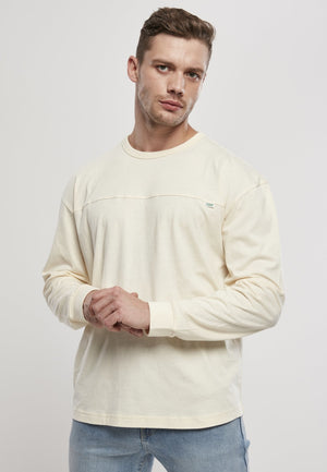 Organic Cotton Short Curved Oversized Longsleeve (sizes S-5xl) White Sand / s T-shirt Urban Classics