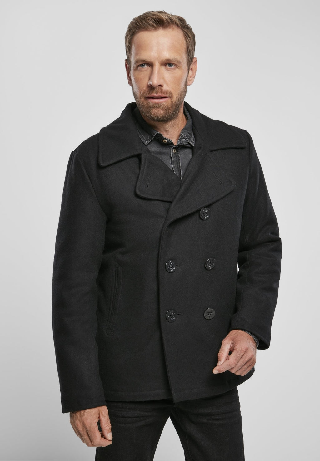 Pea Coat Jacket Heavy Brandit