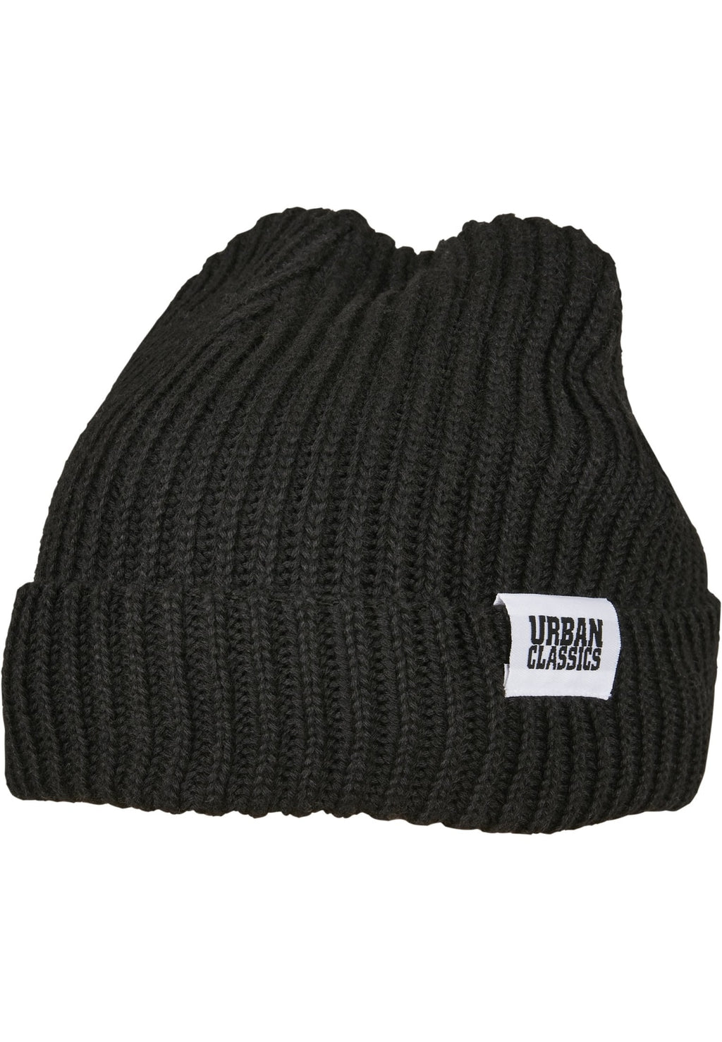Recycled Yarn Fisherman Beanie Black Headwear Urban Classics