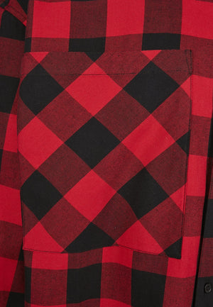 Red Southpole Check Flannel Shirt Shirt Southpole