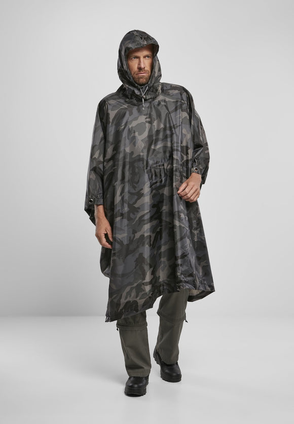 Ripstop Poncho Dark Camo / One Size Jacket Light Brandit