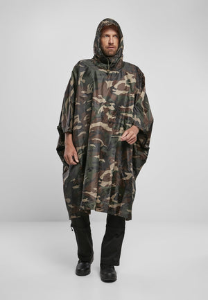 Ripstop Poncho Woodland / One Size Jacket Light Brandit