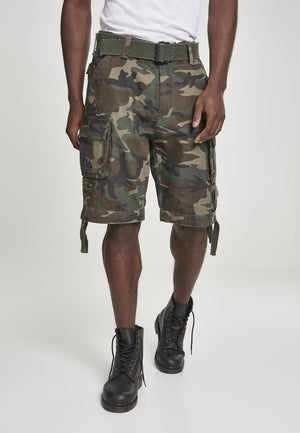 Savage Vintage Cargo Shorts (9 Colors | Sizes s - 7xl) Olive Camouflage / s Pants Brandit