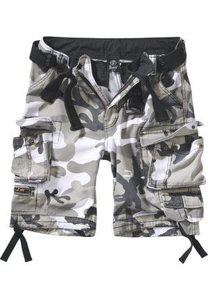 Savage Vintage Cargo Shorts (9 Colors | Sizes s - 7xl) Snow Camouflage / s Pants Brandit