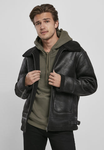 Shearling Jacket s / Black Jacket Urban Classics