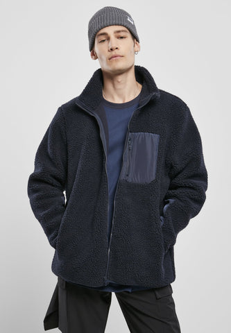 Sherpa Jacket - Midnight Navy s / Midnight Navy Jacket Urban Classics