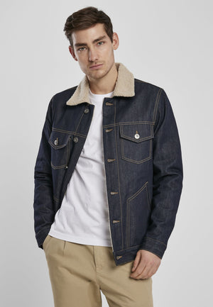 Sherpa Lined Jeans Jacket - Rinsed Denim Rinsed Denim / s Jacket Urban Classics