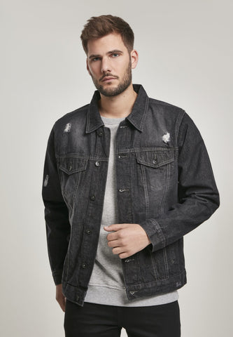 Southpole Basic Trucker Denim Jacket Black / s Jacket Southpole