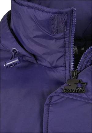 Starter Color Block Half Zip Retro Jacket - Purple White Yellow Jacket Light Starter