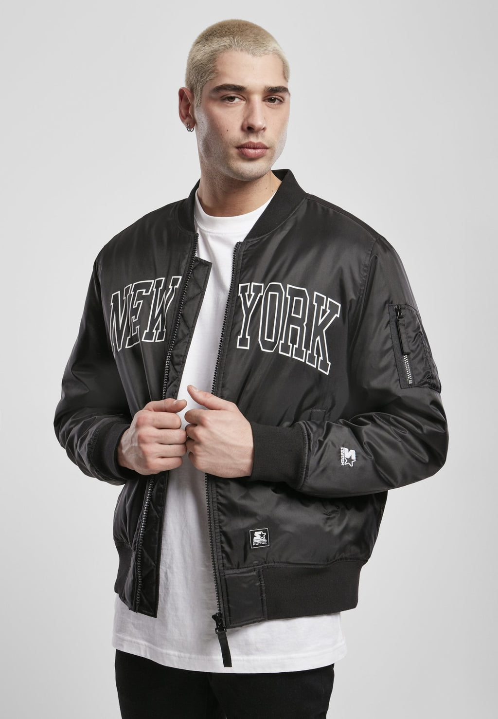Starter New York Bomber Jacket S / Black Jacket Starter