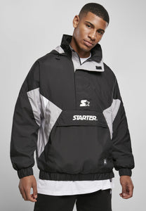 Starter Retro Windbreaker - Black/silver Grey/white Windbreaker Starter