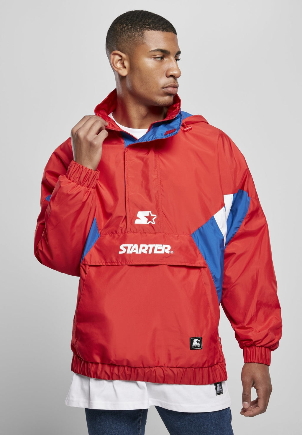 Starter Retro Windbreaker - City Red/sporty Blue/white Windbreaker Starter