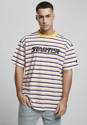 Starter Stripe Jersey White/californian Yellow/real Violet / s T-shirt Starter