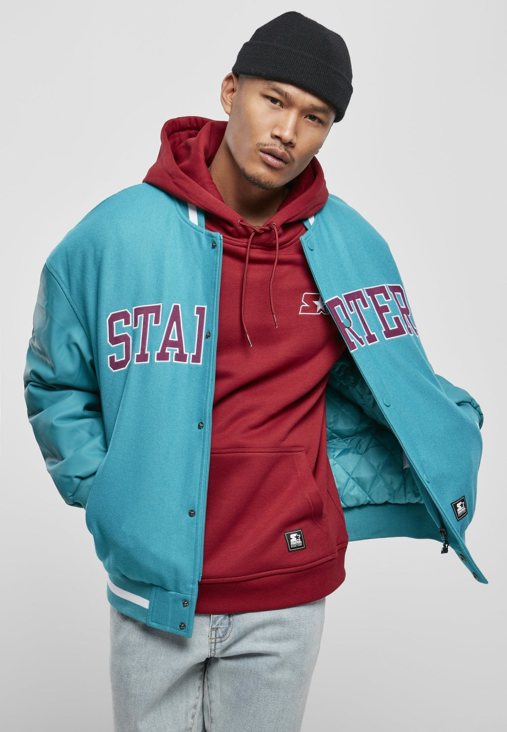 Starter Team Authentic Oldschool College Jacket (3 Colors!) Lake Blue / s Jacket Starter