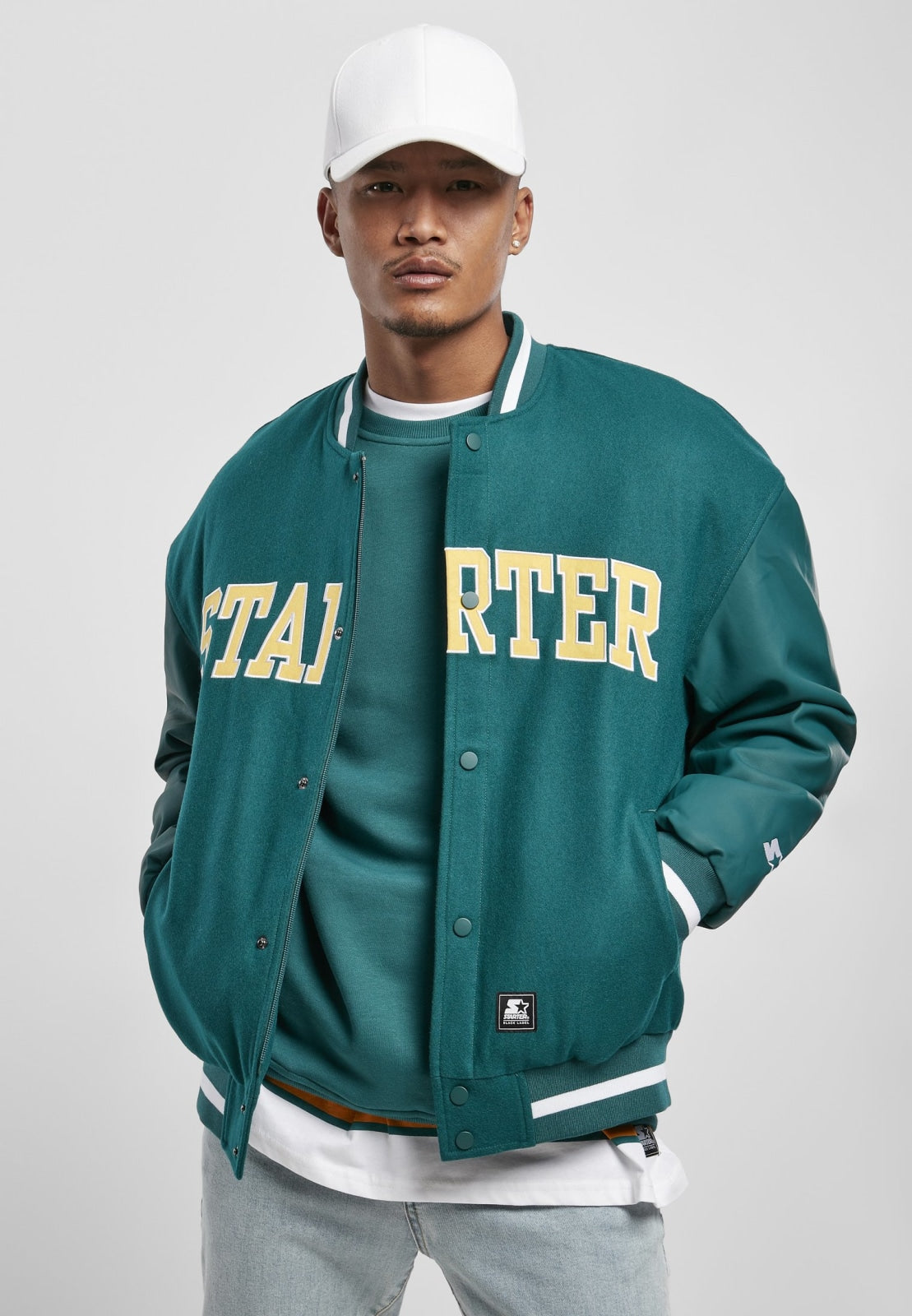 Starter Team Authentic Oldschool College Jacket (3 Colors!) Retro Green / s Jacket Starter