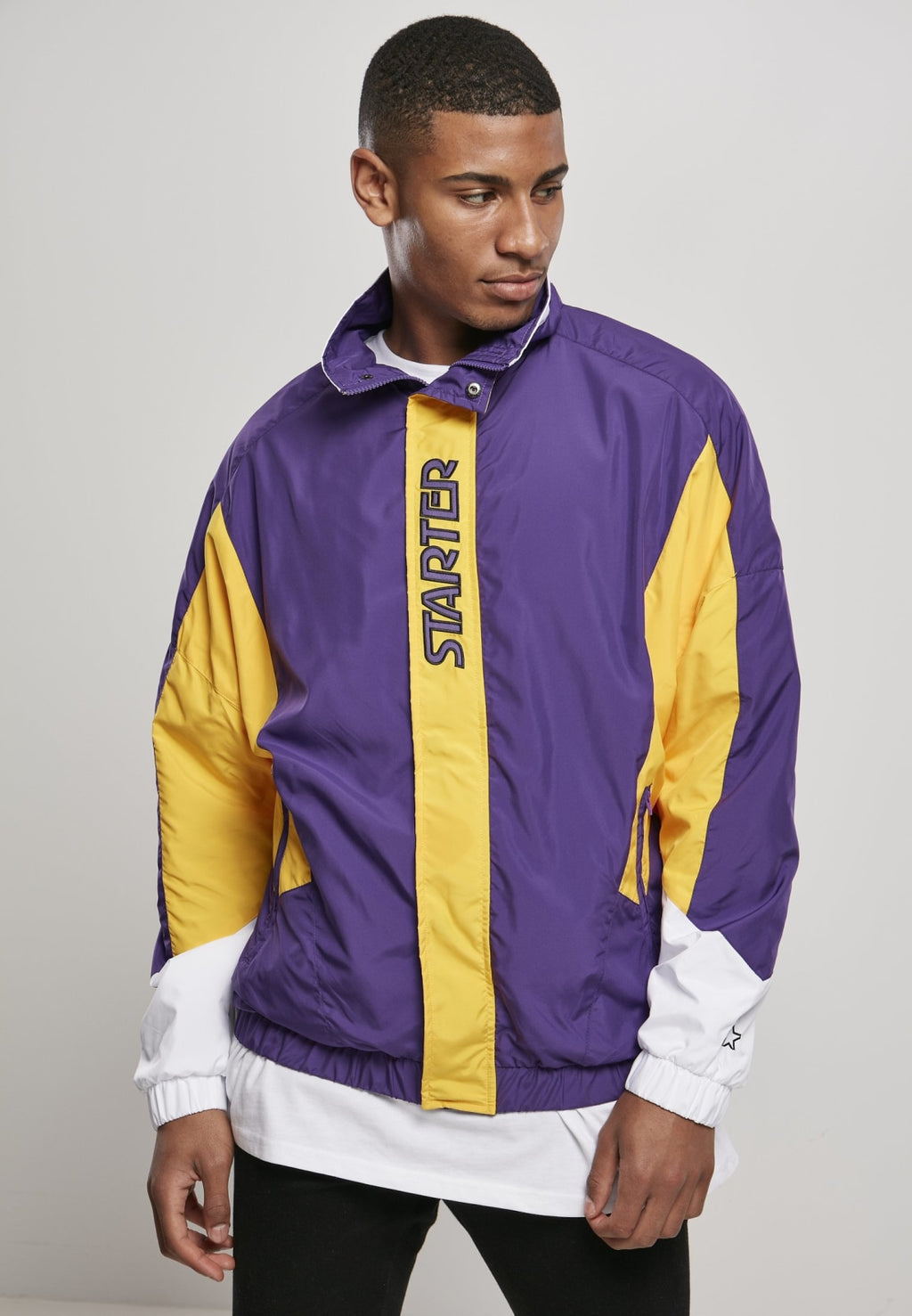 Starter Track Jacket - Real Violet/california Yellow/white Jacket Light Starter