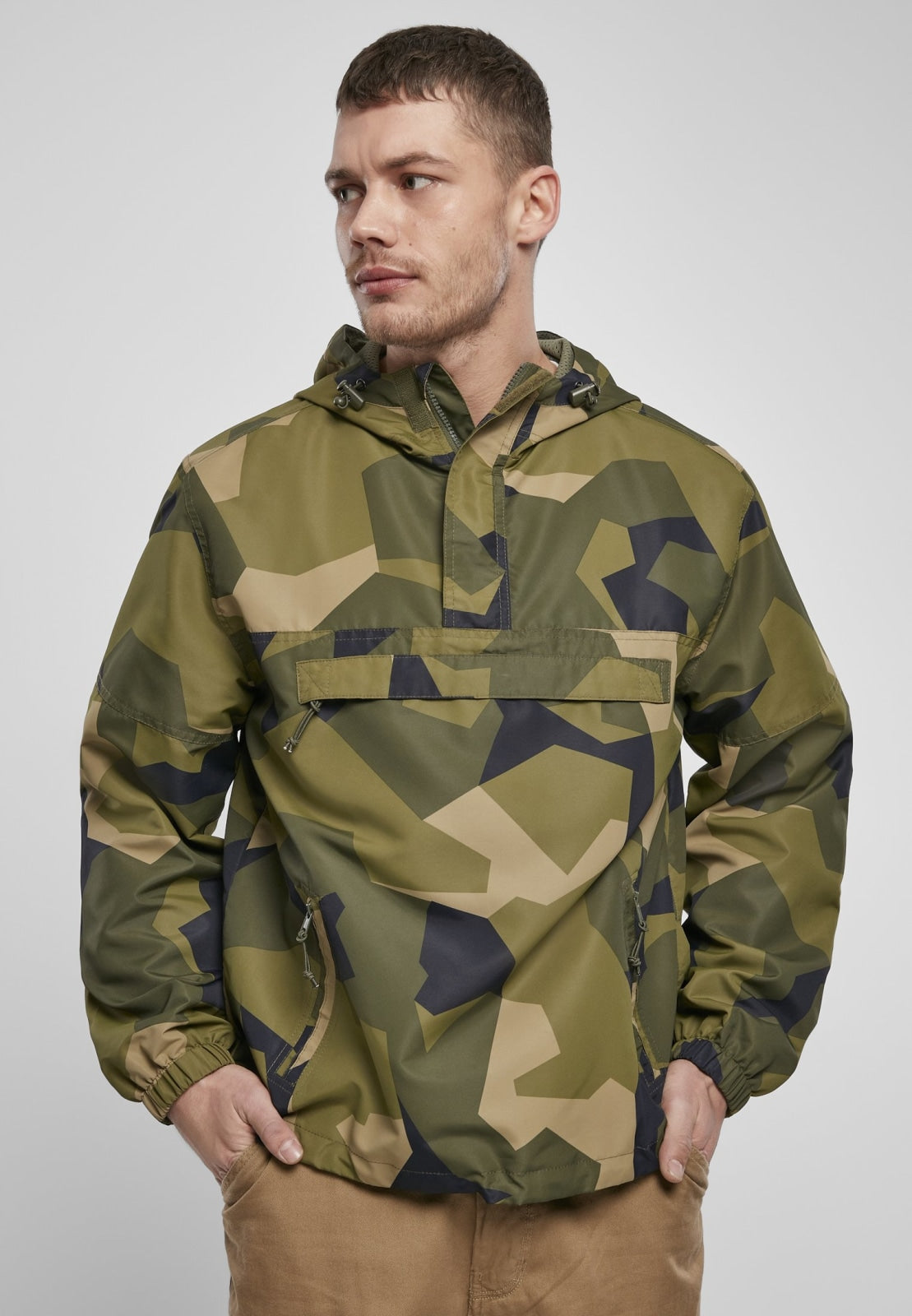 Summer Pull over Jacket Swedish Camouflage / s Windbreaker Brandit
