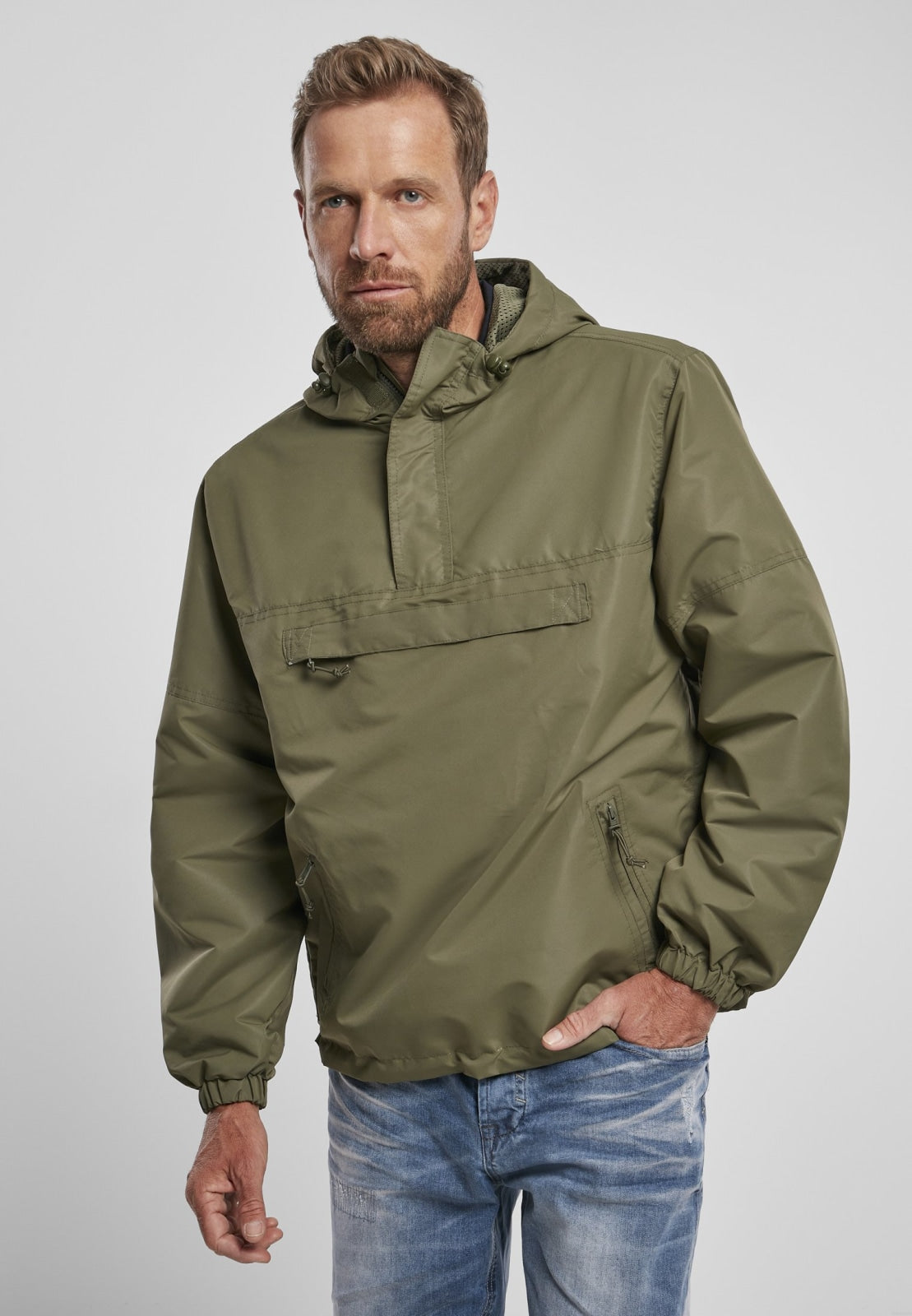 Summer Pull over Jacket Olive / s Windbreaker Brandit