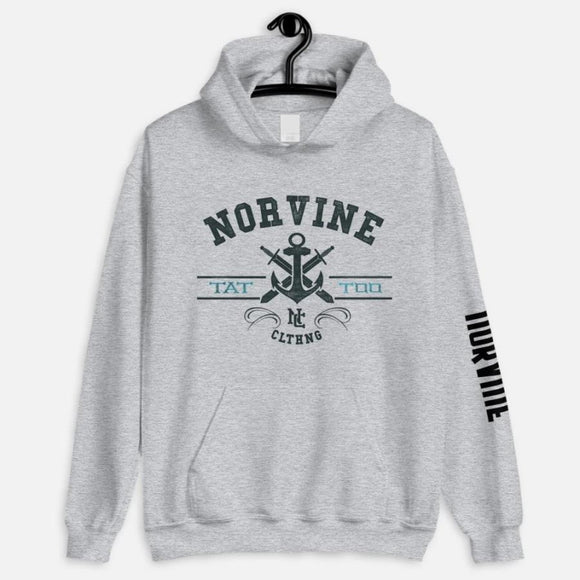 Tattoo Anchor Hoodie Heather Grey / S Sweatshirt Norvine