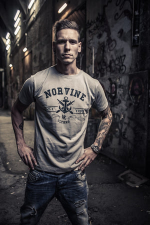 Tattoo Anchor T-Shirt Heather Grey / S T-Shirt Norvine
