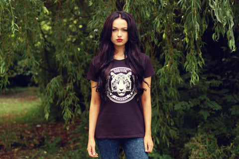 Tiger Of London Ladies Fit Tee S / Black Tshirt-Women Norvine