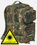 Us Cooper Lasercut Large (6 Colors) Flecktarn / L Brandit Backpack Brandit