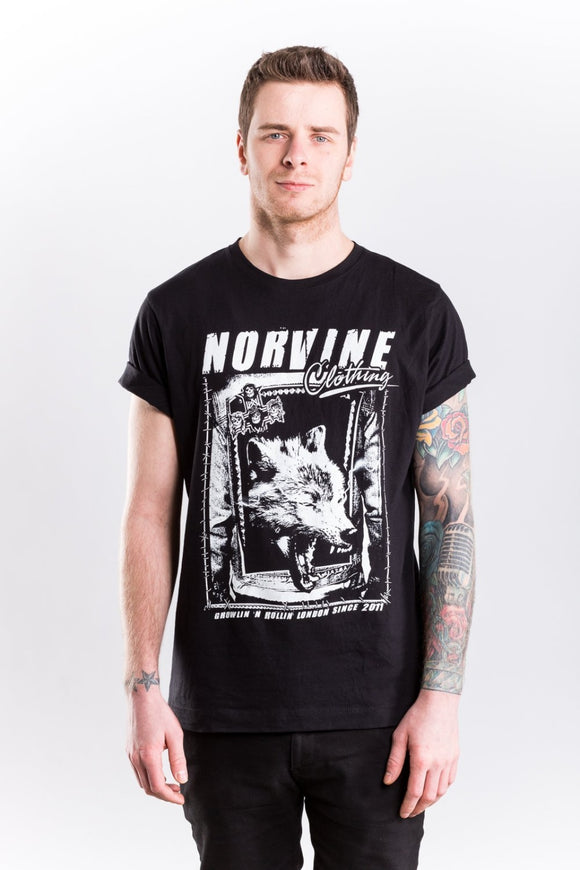 Wolf S / Black T-Shirt Norvine