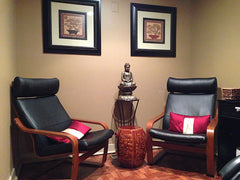 Relax before or after your treatment in our spa waiting room