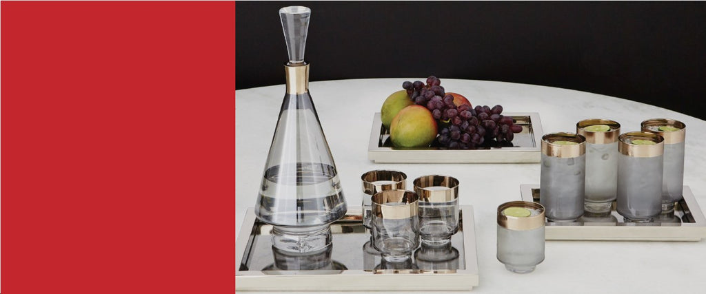 ACCESSORIZE YOUR BAR  Ice Buckets, Decanters,  Coasters, Glasses, & More
