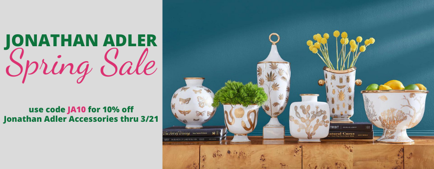 Embrace Peace and 10% off Jonathan Adler Accessories - use code PEACE thru 11/20
