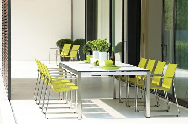 Wonderful Gloster Outdoor Furniture   Asta Collection Is A Stylish And Stackable Outdoor  Furniture Line That Comes In A Variety Of Stunning Colors To Accommodate  Any ...