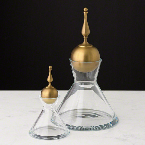Finial Decanter Brass Large - Global Views