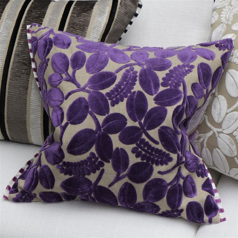 Calaggio Violet Decorative Pillow - Designers Guild
