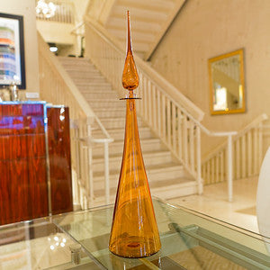 Straight Cone Petite Decanter, Amber - Joe Cariati
