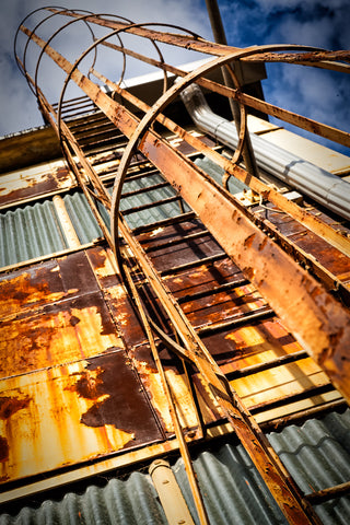 Industrial Stairs Framed - North Philadelphia Winter 2013 - Michael & Sylvie Spewak