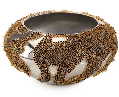 Brass and Stone Encased Bowl - John-Richard