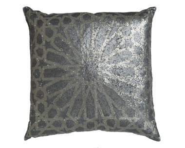 Silver Sequin/Charcoal Sequin Pillow - Callisto Home